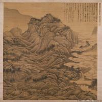 明代書畫家劉玨古畫繪畫作品