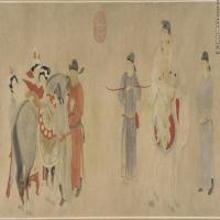 元代畫家錢選古畫繪畫作品(1)