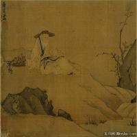 明代画家唐寅画像系列大不列颠博物馆藏