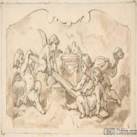 宗教天顶(3)插画宗教天顶图案宗教插画图案