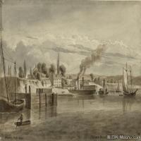 风景插画(12)交通船只图片海景插画图片