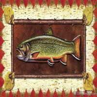 插画水族(13)动物鱼类海洋生物插画图案