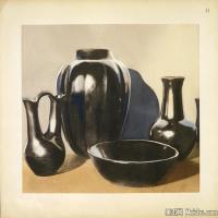 插画静物(4)静物器具图片插画陶瓷器具图片