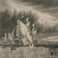 风景插画(7)交通船只图片海景插画图片