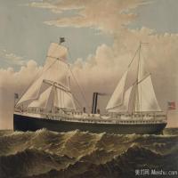 风景插画(13)交通船只图片海景插画图片