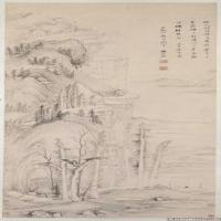 明代畫家楊文驄古畫繪畫作品