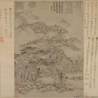 元代著名畫家黃公望山水(1)