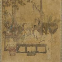 元代畫家劉貫道消夏圖