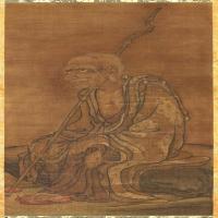 元代畫家蔡山羅漢圖立軸圖片