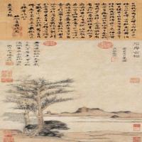 元代畫家曹知白古畫作品(1)