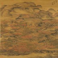 元末著名画家王蒙国画山水(1)