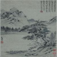 元代画家郑樗沧浪独钓图
