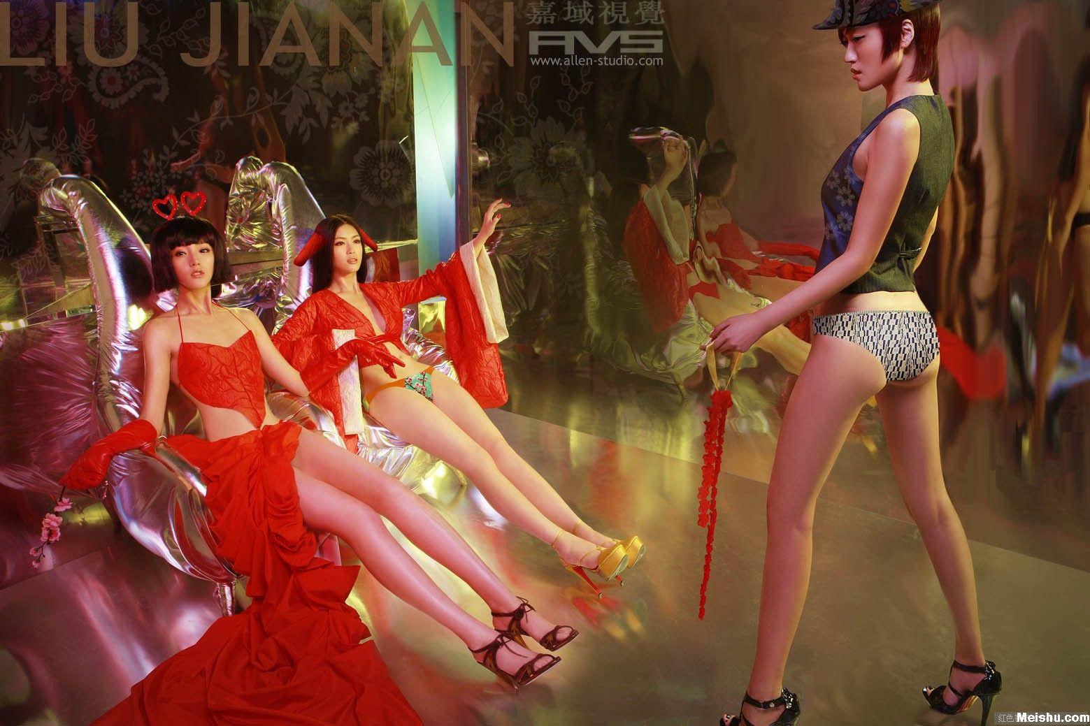 刘嘉楠时尚摄影高清大图:性感圣诞