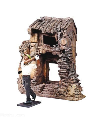 河南双胞胎兄弟用陶做雕塑 惊动雕塑艺坛