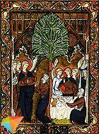 早期与盛期哥德式彩绘玻璃、手抄本插画和绘画-中世纪美术史(5)