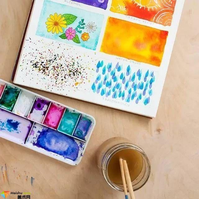 超好玩的8种水彩技法