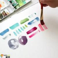 水彩画技法-钢笔水彩画技法