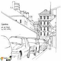 比利时建筑师gerard michel的手绘作品