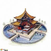 中国古建筑手绘图