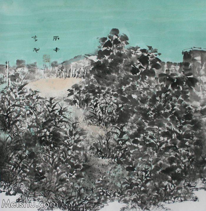 2016年 李旭《皖南印象系列》68×68纸本水墨    (4)