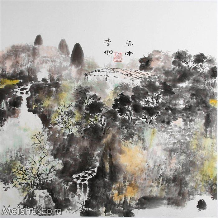 2016年 李旭《皖南印象系列》68×68纸本水墨    (1)