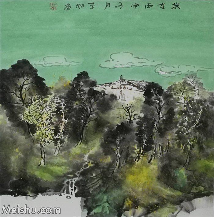 2017年 李旭《山居系列》68×68纸本水墨    (10)