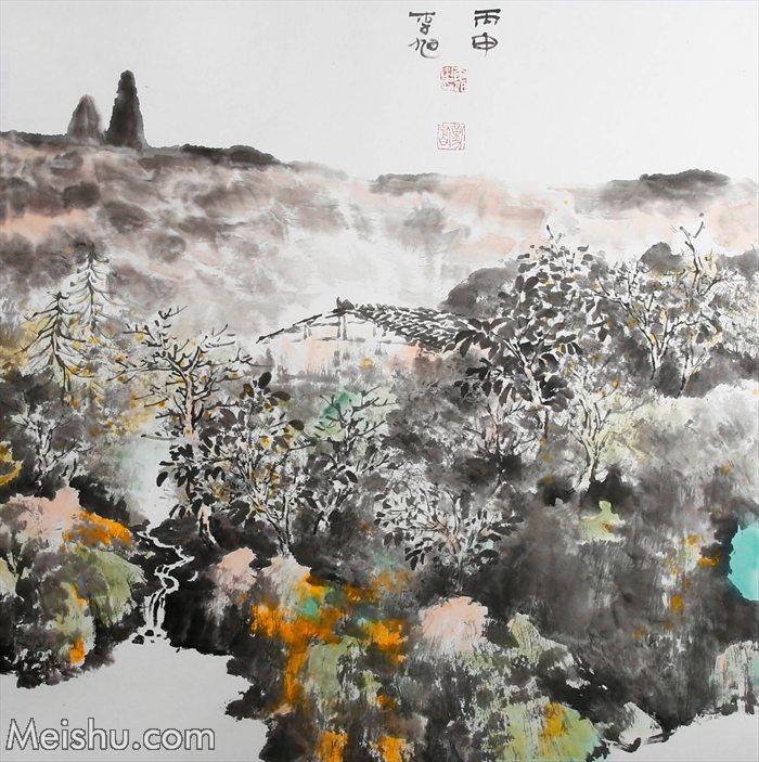 2016年 李旭《皖南印象系列》68×68纸本水墨    (7)
