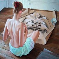 东西方油画技法形式的特点与融合,顶级诱惑的人体背部艺术油画欣赏