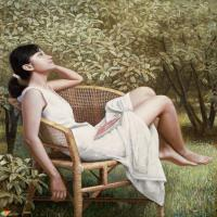 抽象化油画元素的审美特质,别有风韵人体油画欣赏,堪称经典!!