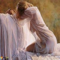论材料语言在油画创作中的运用,世界名画里的美女欣赏,藏不住的性感