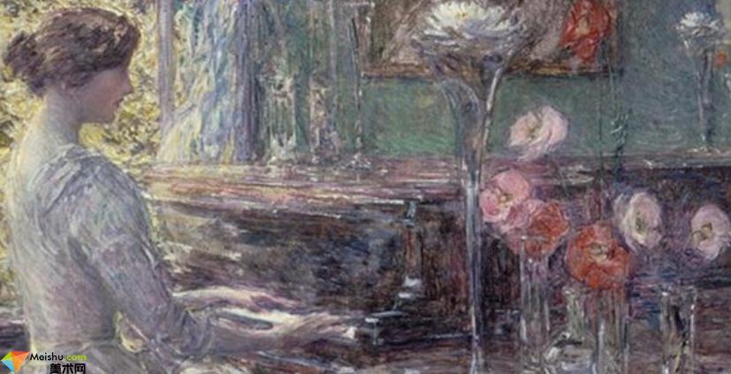 (美国印象派)施尔德,哈萨姆-油画展