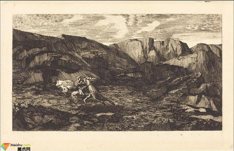 法国(象征主义画派)奥迪隆・雷东-素描画展二