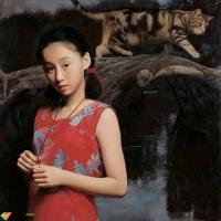油画大师王沂东笔下青春靓丽的少女