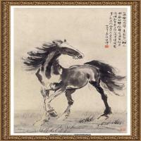 徐悲鸿-立马