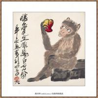 近现代齐白石-猴纸本