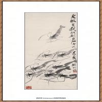 齐白石-群虾33x108cm