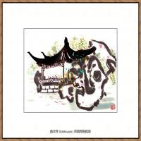吴冠中抽象画作品图片 (37)