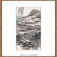近现代吴昌硕山水轴纸本43