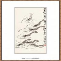 齐白石-虾趣图