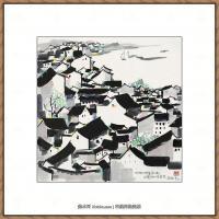 吴冠中抽象画作品图片 (54)