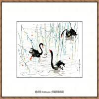 吴冠中抽象画作品图片 (17)