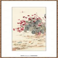 齐白石-昆虫花鸟图
