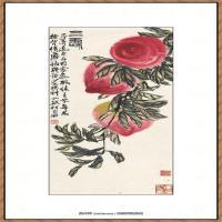 齐白石-三寿图