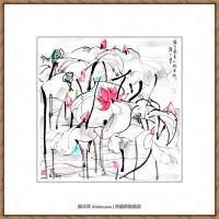 吴冠中抽象画作品图片 (12)