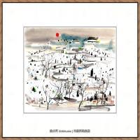 吴冠中抽象画作品图片 (26)