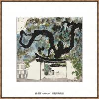 吴冠中抽象画作品图片 (47)