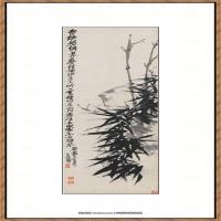 吴昌硕-竹石图