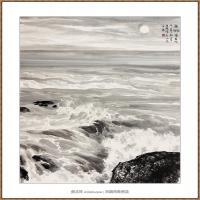 海吼220X180-海阳美协主席赵杰水墨作品