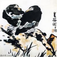 现代书画家李苦禅高清水墨作品集(三)