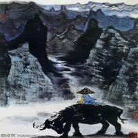 中国山水画家李可染水墨写意画集(二)